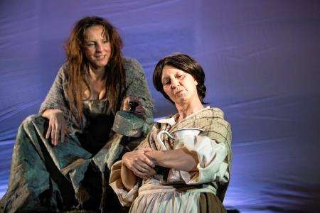 Selina Boyack as Lady Grange and Cait Kearney as Oona in 'The Straw Chair'.