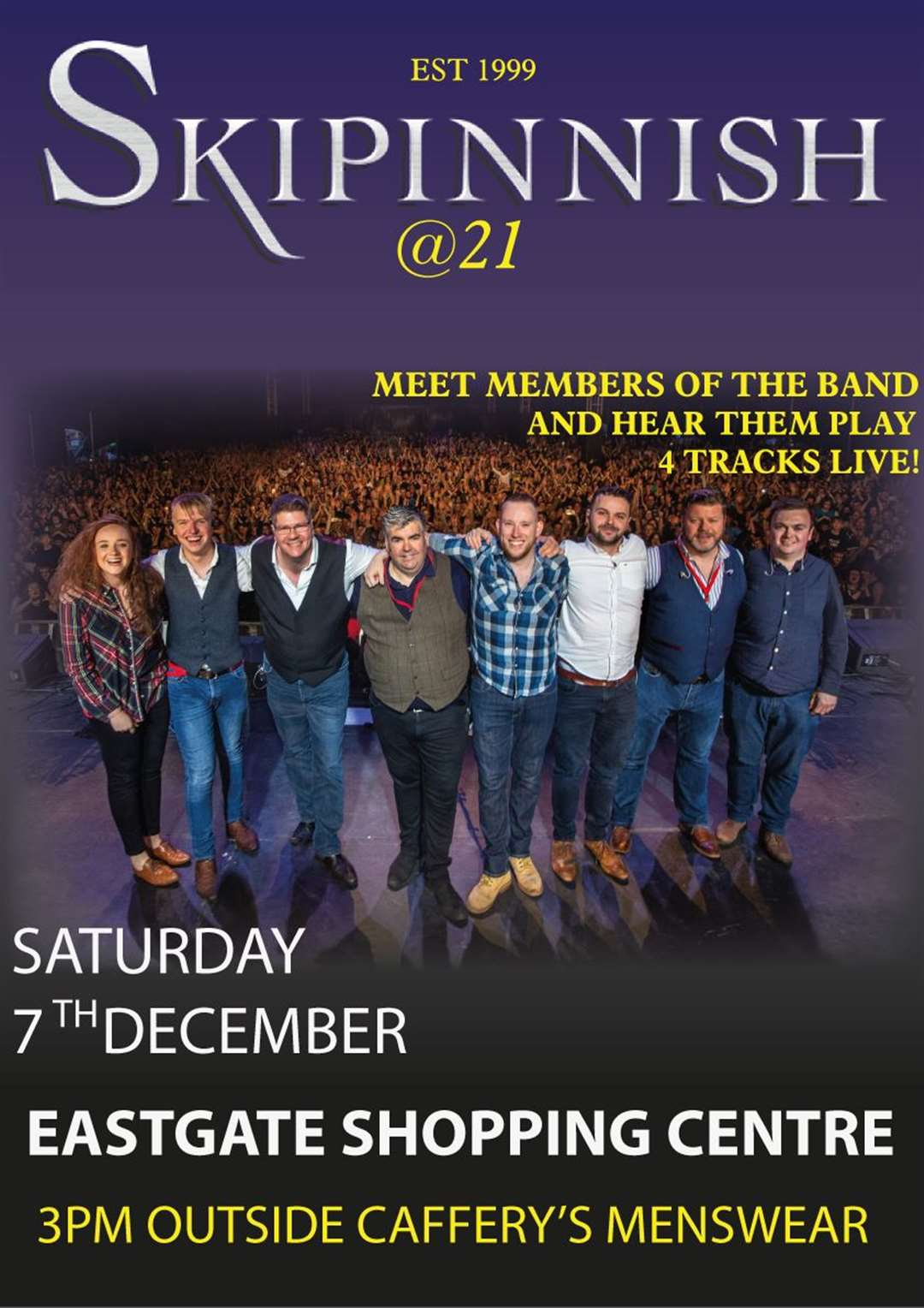 Skipinnish will be in the Eastgate Centre on Saturday.