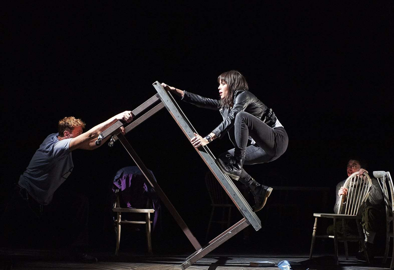 Fiona Hampton as Sarah and Ed Hayter as Simon in Touching The Void. Picture: Geraint Lewis
