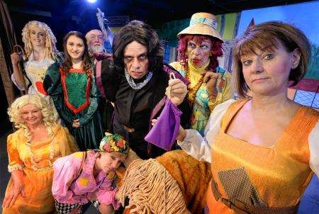 The cast of The Florians Jack and the Beanstalk. Pic: Gair fraser