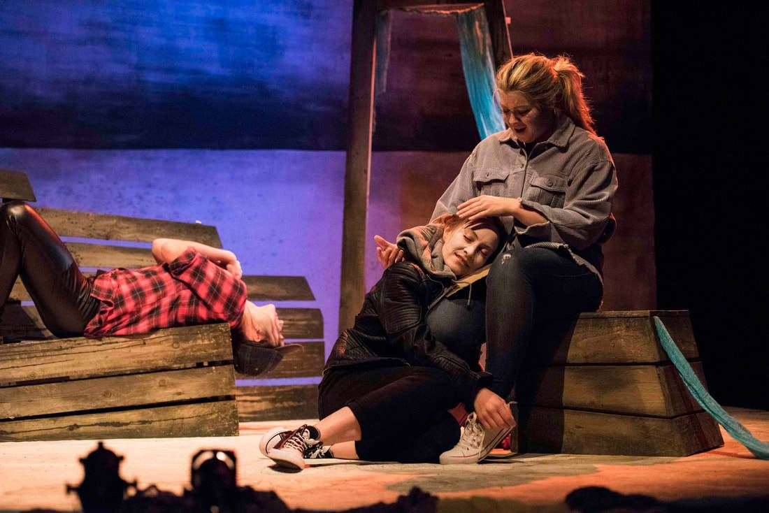 Dogstar Theatre's The Stornoway Way with - frm left - Chloe-Ann Tylor Naomi Stirrat and Rachel Kennedy. Picture: Leila Angus