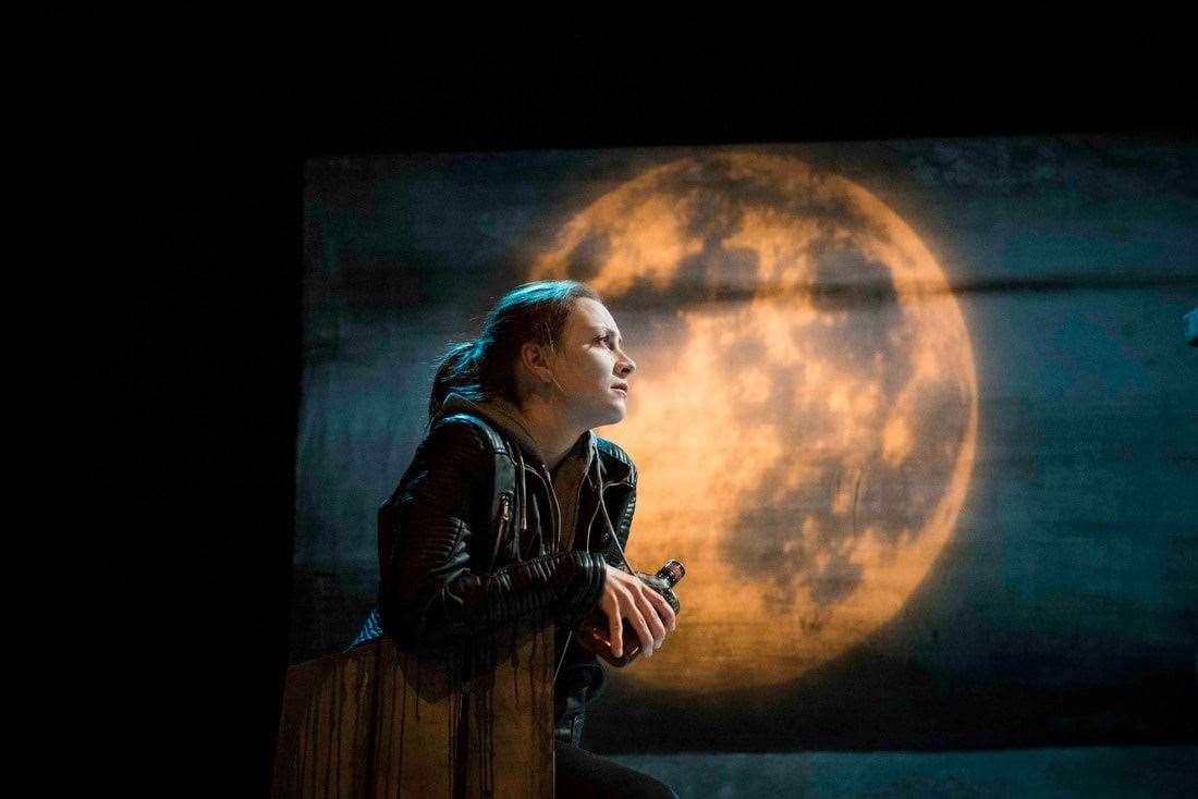 Naomi Stirrat as Roman Stornoway in Dogstar Theatre's play adapted by Kevin MacNeil from his own book The Stornoway Way.Picture: Leila Angus